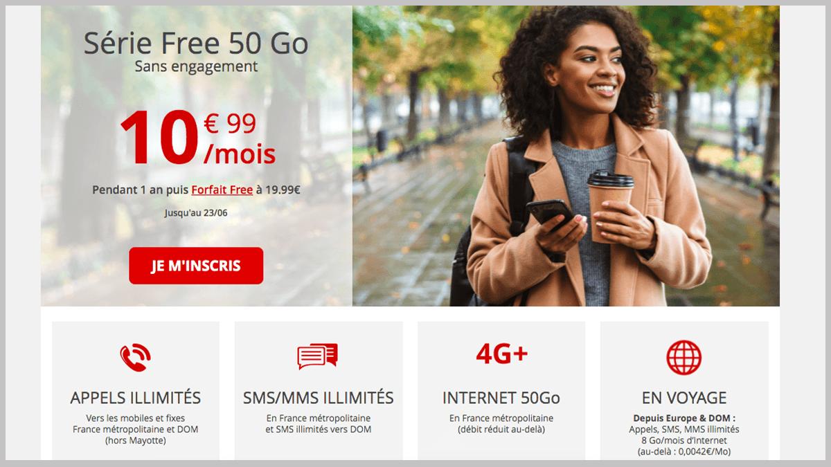 Série Free à 10,99€