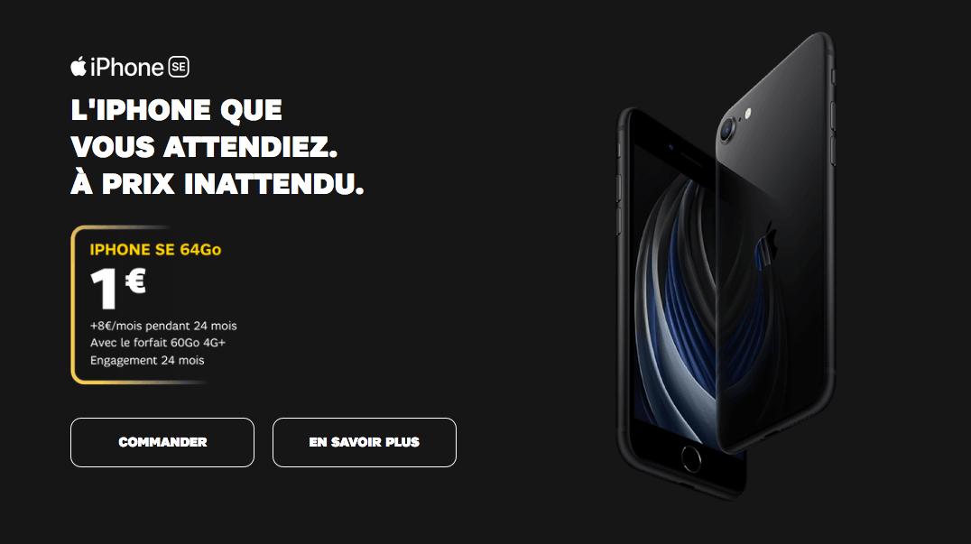 iPhone SE à 1€ avec SFR