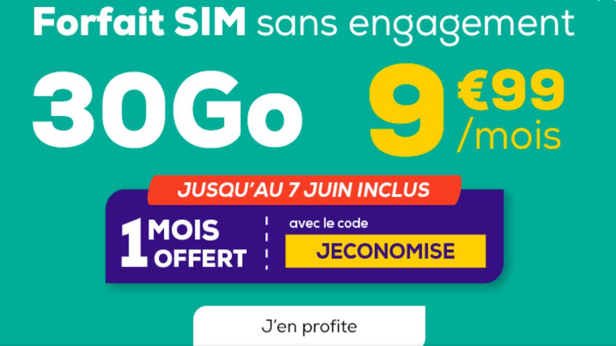 Forfait en promo La Poste Mobile 9,99€