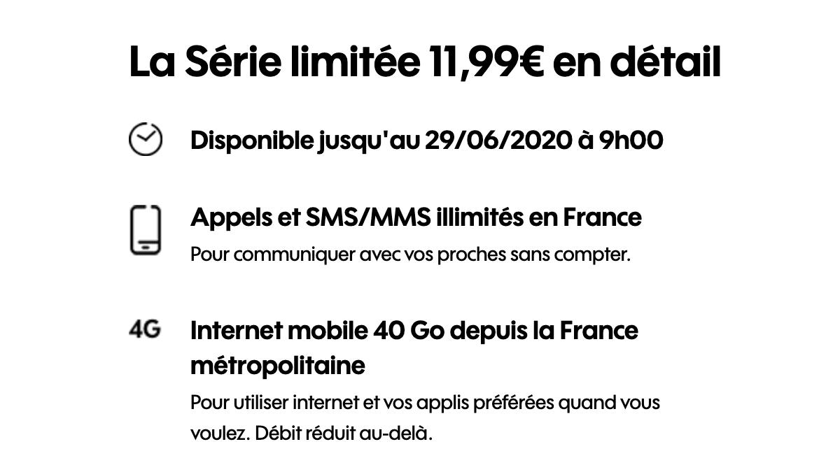 le forfait mobile sosh à seulement 11,99€ par mois sans engagement.