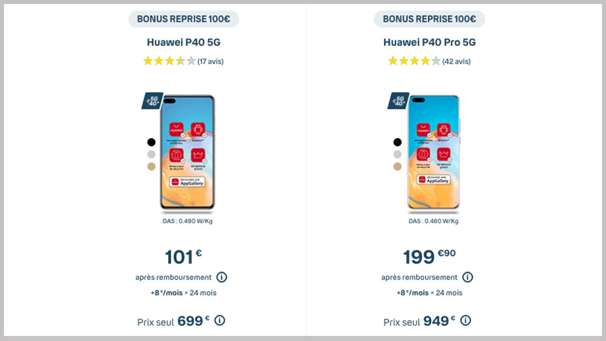 Huawei P40 ou P40 Pro en promo
