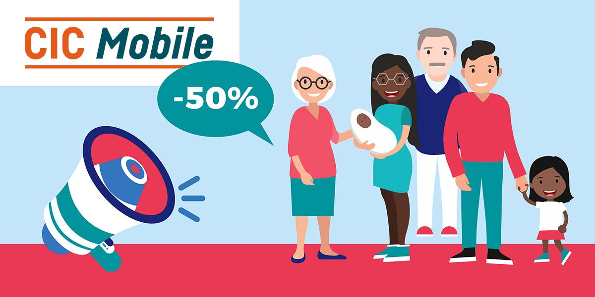 CIC Mobile fait une offre intéressante pour les familles nombreuses