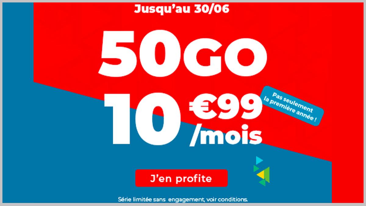 Forfaits mobiles 50 Go Auchan Telecom sous promos