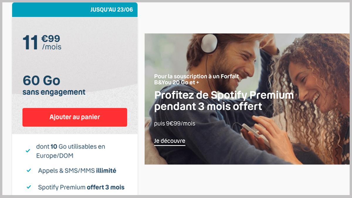 B&YOU avec Spotify Premium