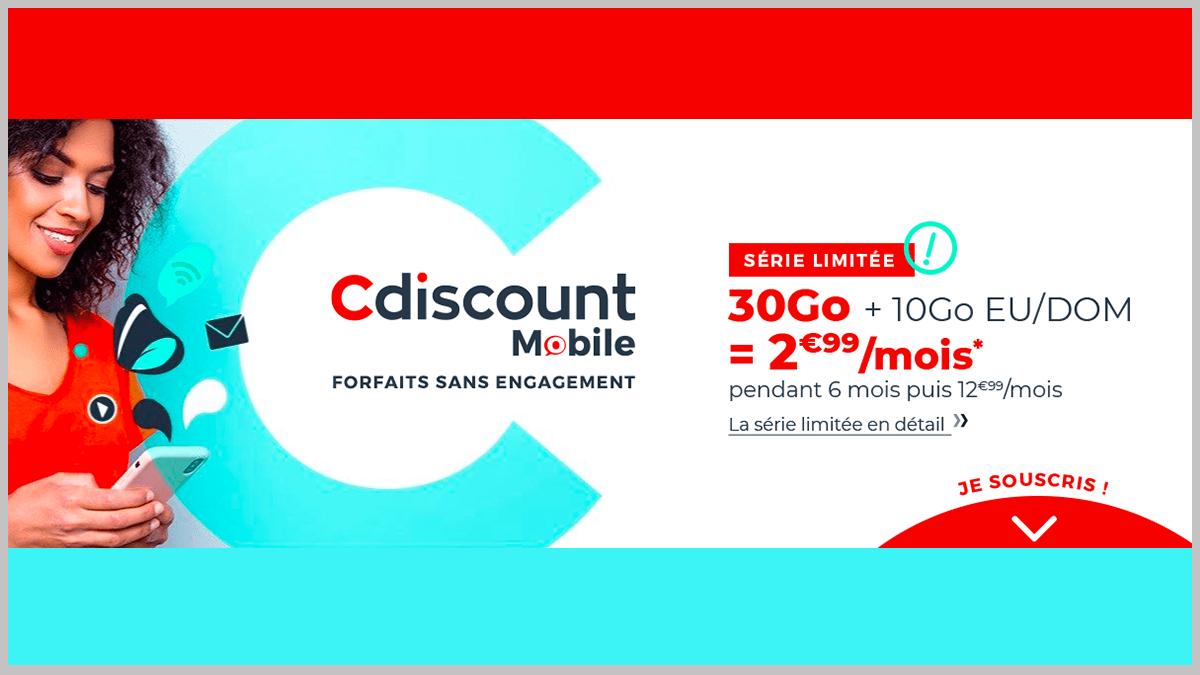 Cdiscount Mobile à 2,99€/mois