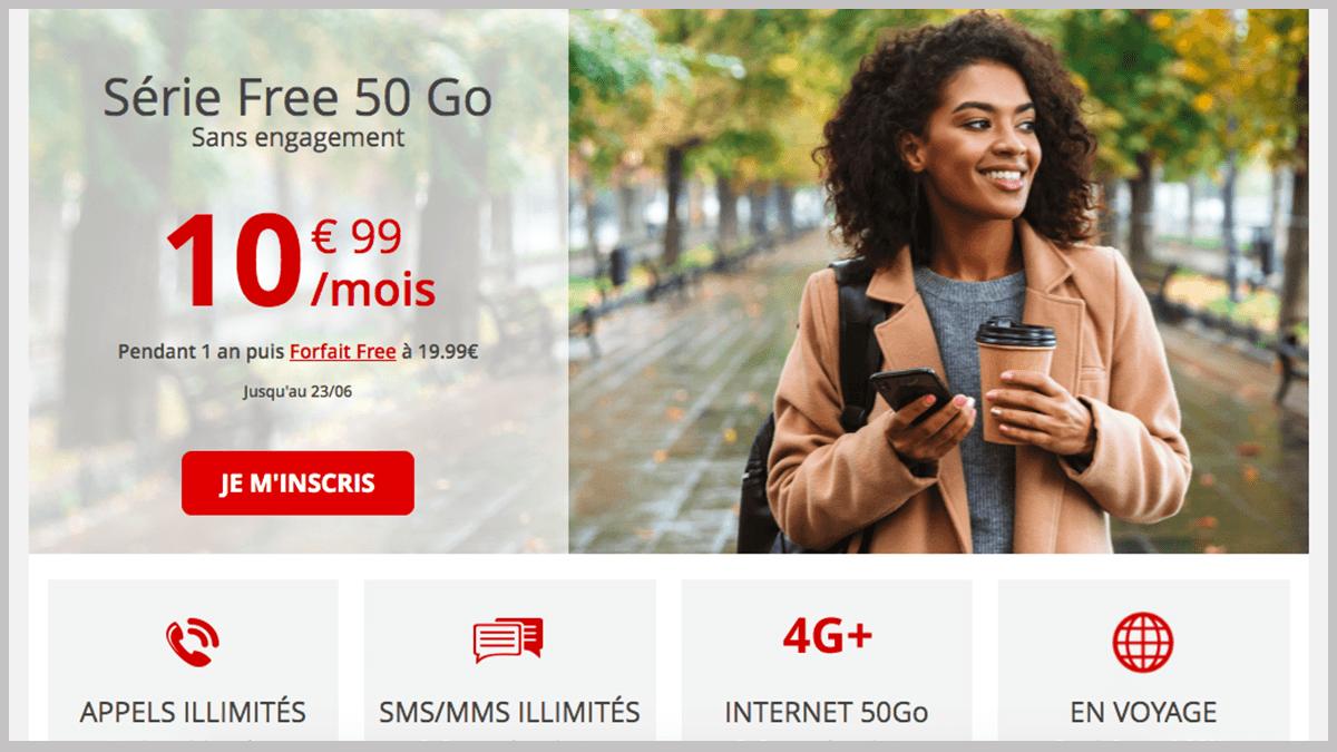 Free mobile parmi les forfaits en promo