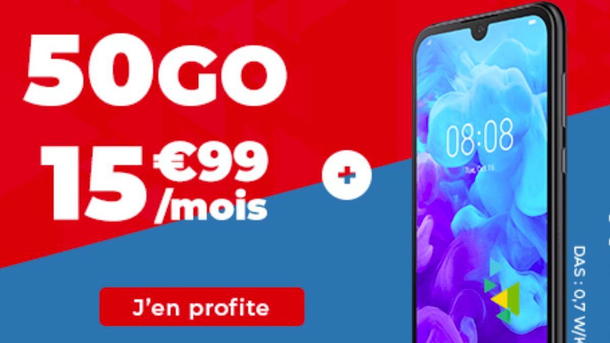 Un smartphone offert avec un forfait pas cher chez Auchan Telecom.