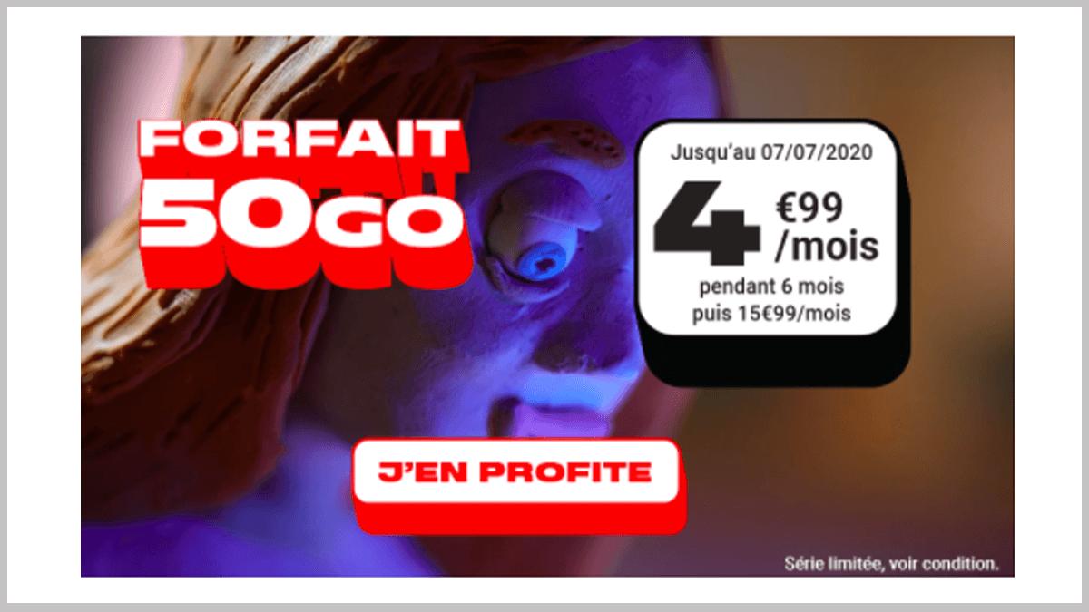 4,99€ par mois avec NRJ Mobile