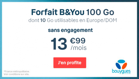 Forfait B&YOU 100 Go.