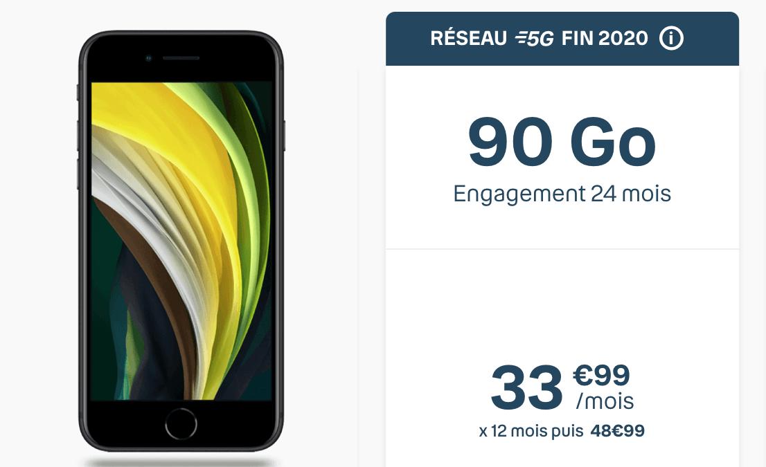 Le forfait mobile 5G iPhone Sensation avec 90 Go de données.
