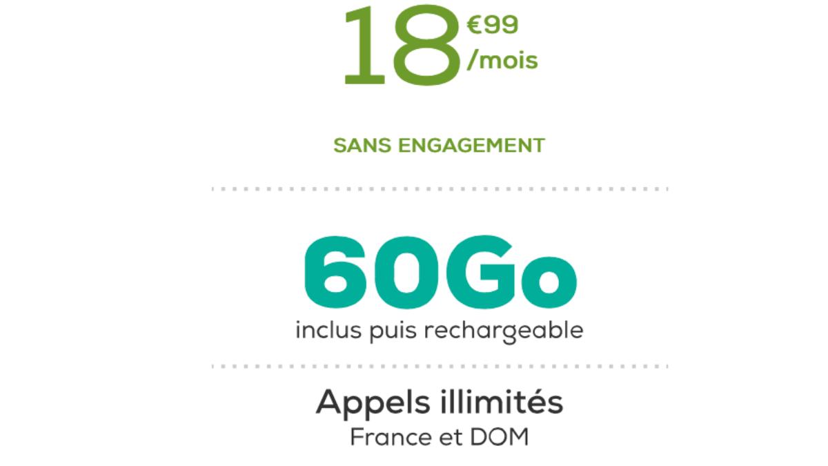 La Poste Mobile propose un forfait sans engagement à partir de 18,99€ par mois.