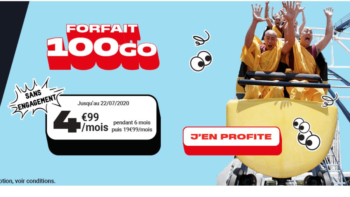 L'offre NRJ mobile à partir de 4,99€ par mois pendant 6 mois.