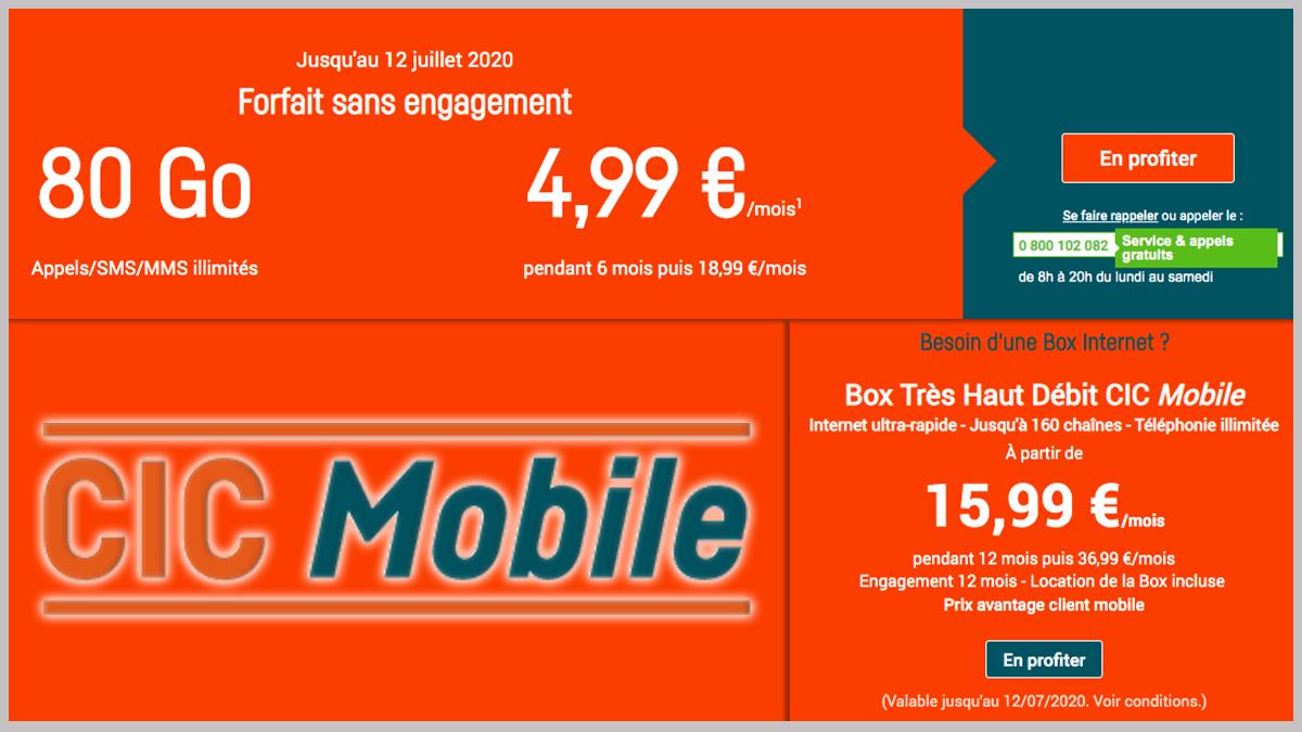 Box CIC Mobile avec forfait.