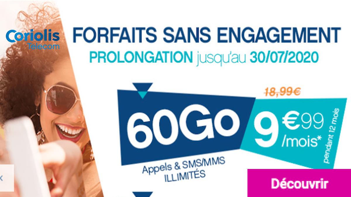 Forfait à 10€ en promo chez Coriolis Telecom
