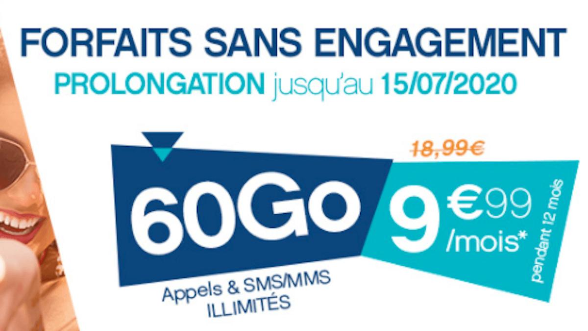Forfait Coriolis Telecom 60 Go à 10€