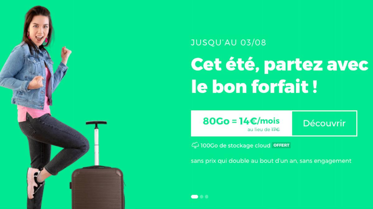 Forfait 80 Go en promo chez RED by SFR