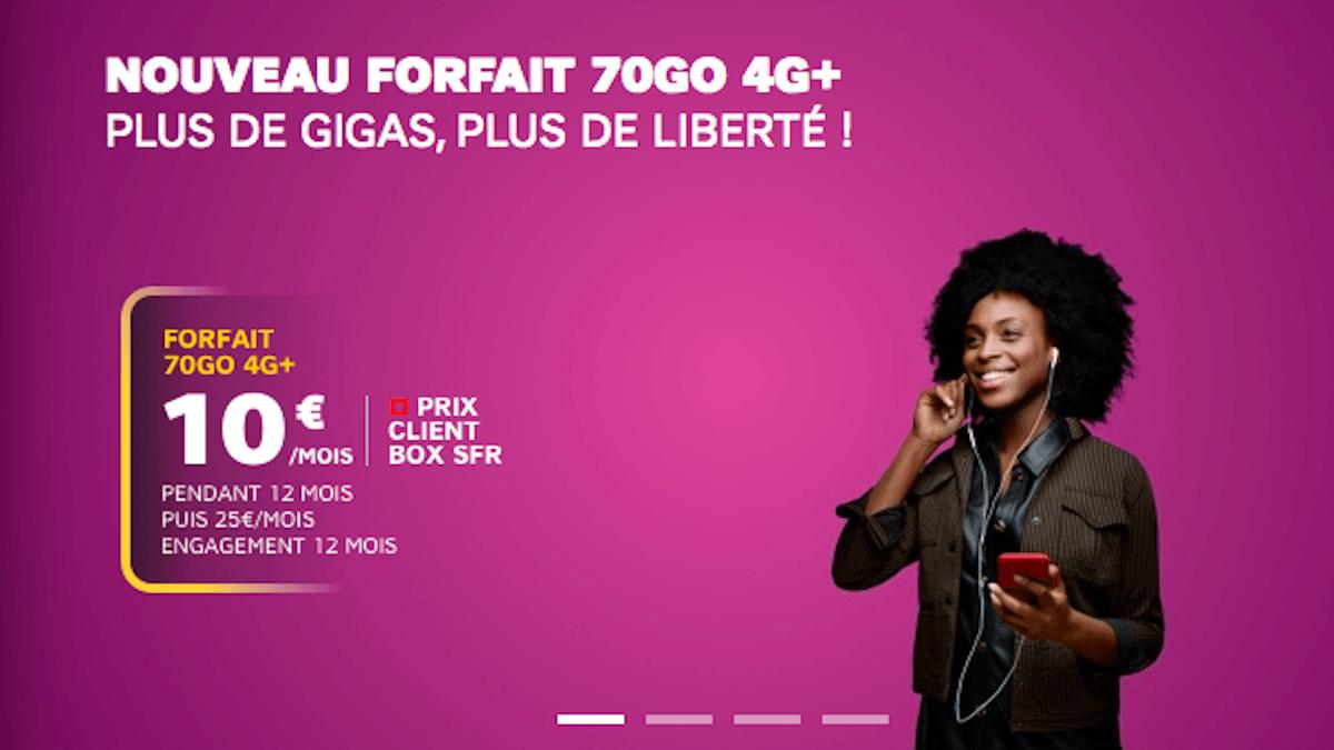forfait en promo 4G+ chez SFR