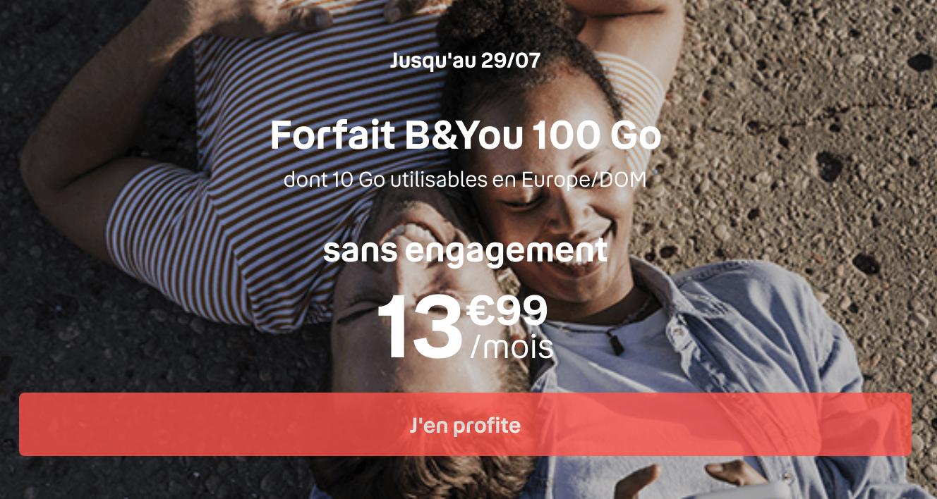 le forfait B&YOU 100 Go