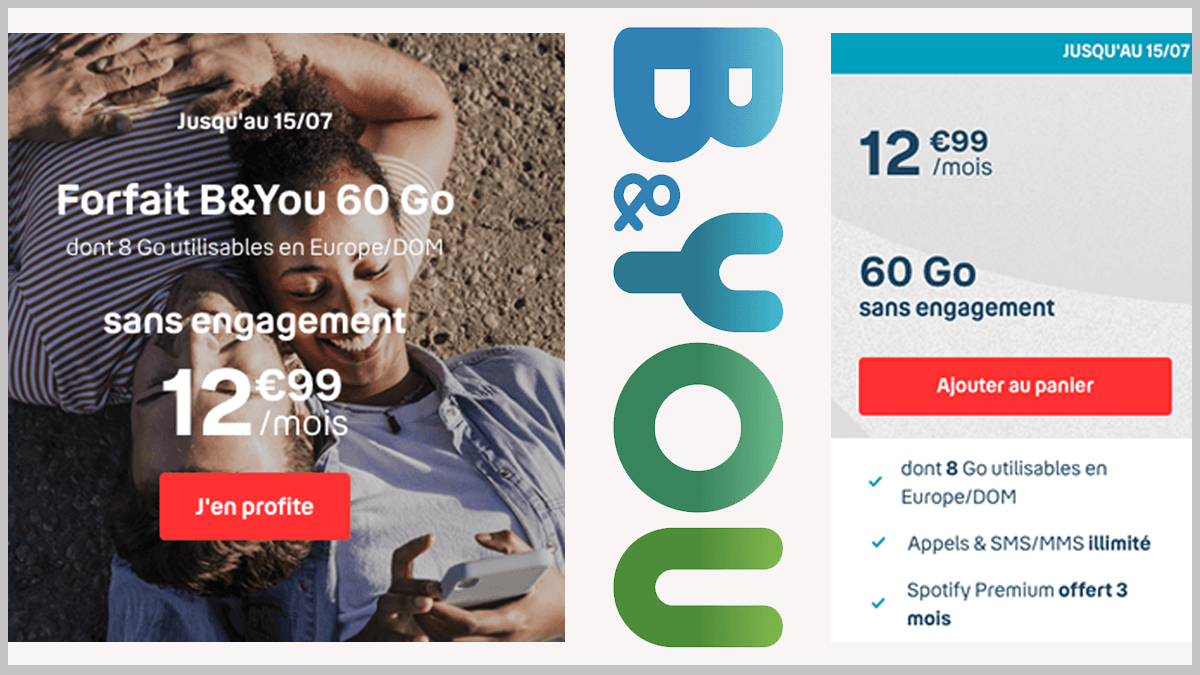 Offre B&YOU avec Spotify Premium