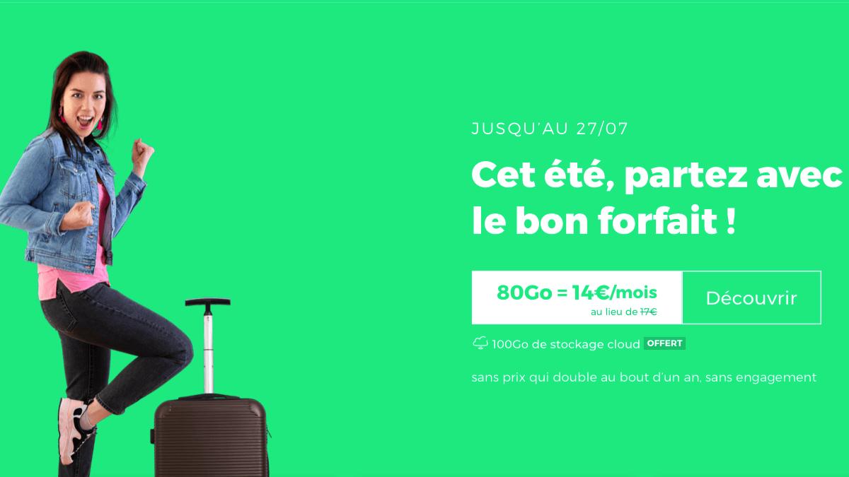 RED by SFR : un forfait en promo avec 80 Go de data.