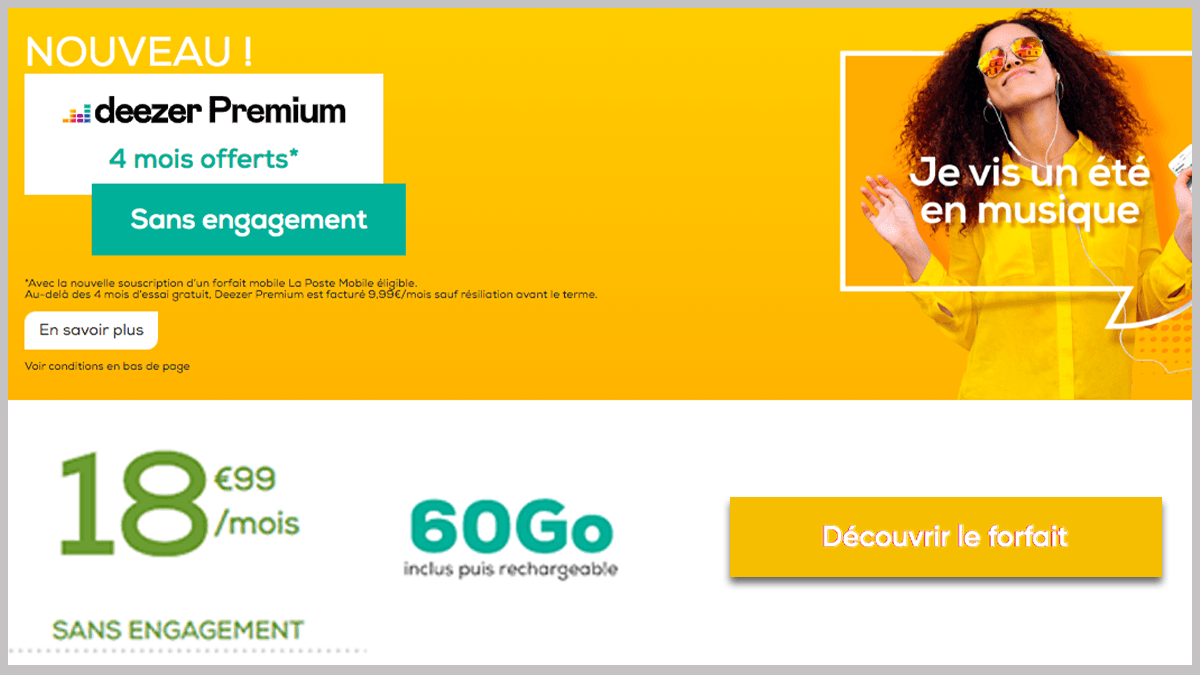 Deezer Premium et 60 Go