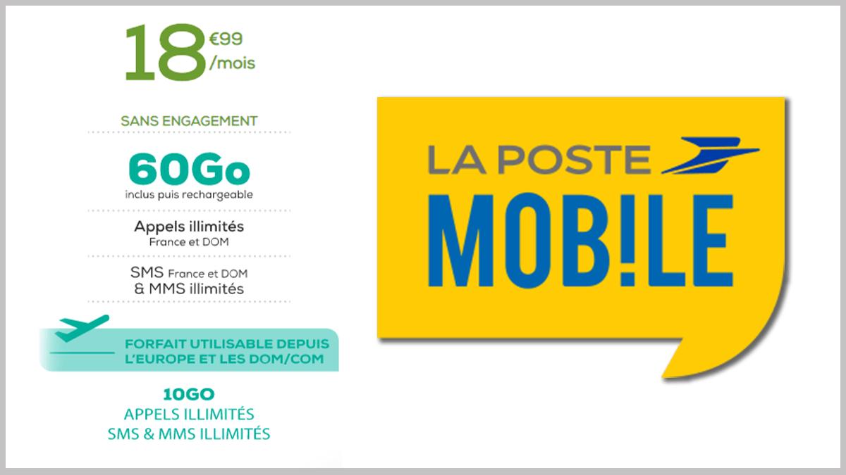 La Poste Mobile avec 60 Go