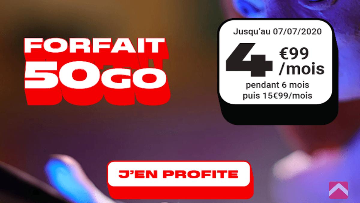 forfait à moins de 5€ chez NRJ Mobile