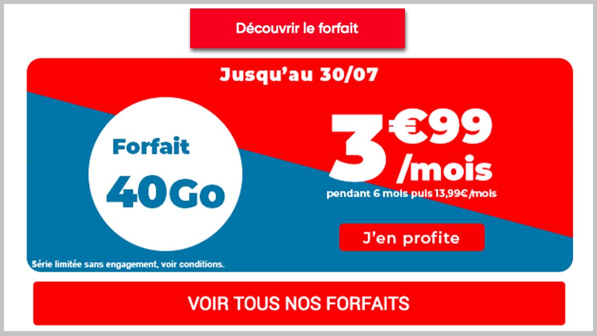 40 Go avec Auchan Telecom
