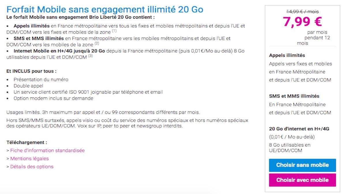 Forfait 20 Go Coriolis Telecom