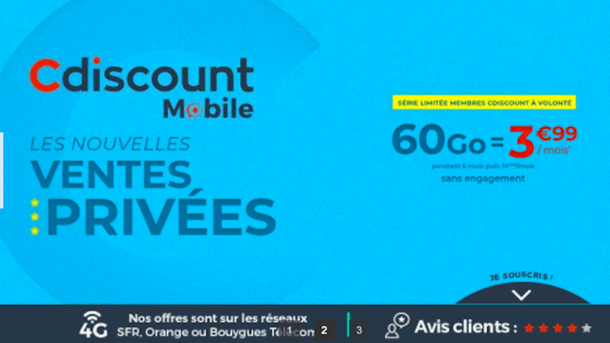 Promos Cdiscount Mobile