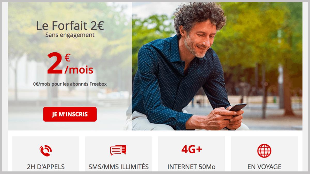 2€ par mois ou gratuit