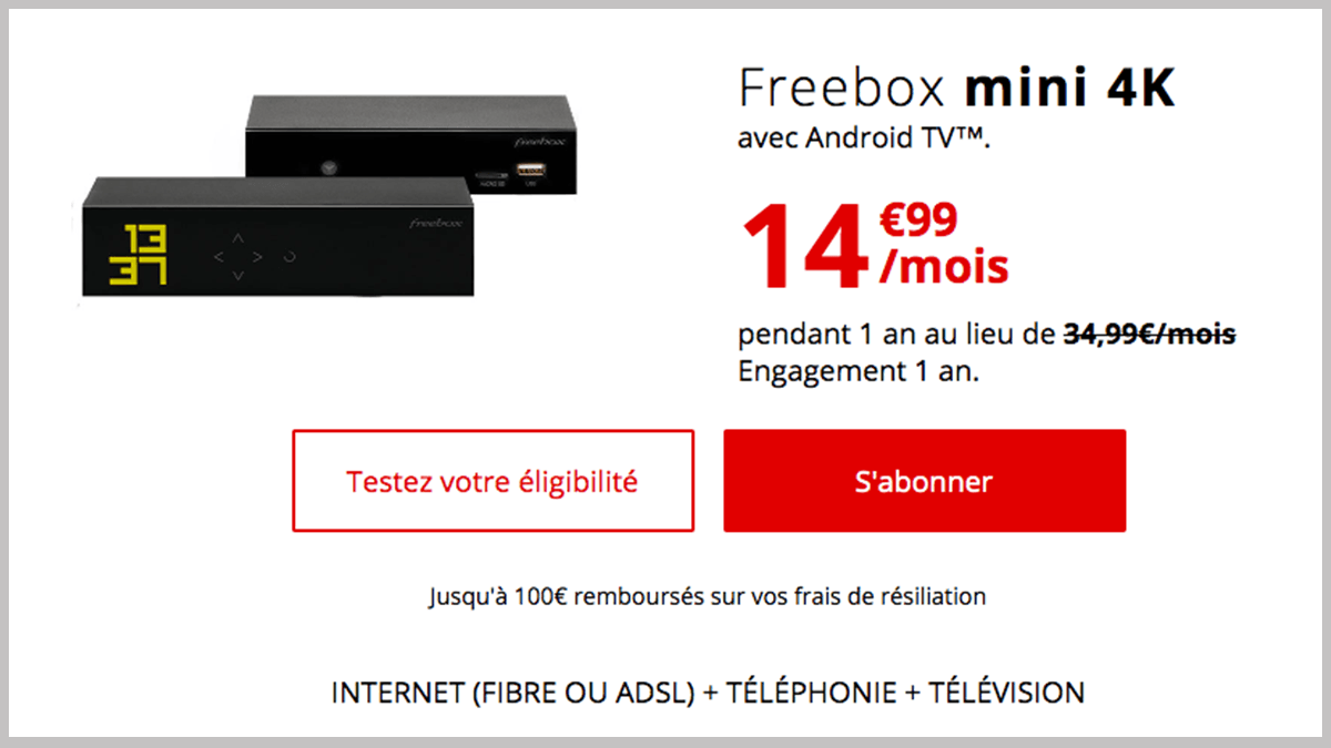 Freebox mini 4K en promo