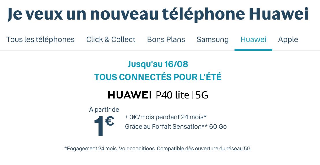 le huawei p40 Lite avec Bouygues Telecom