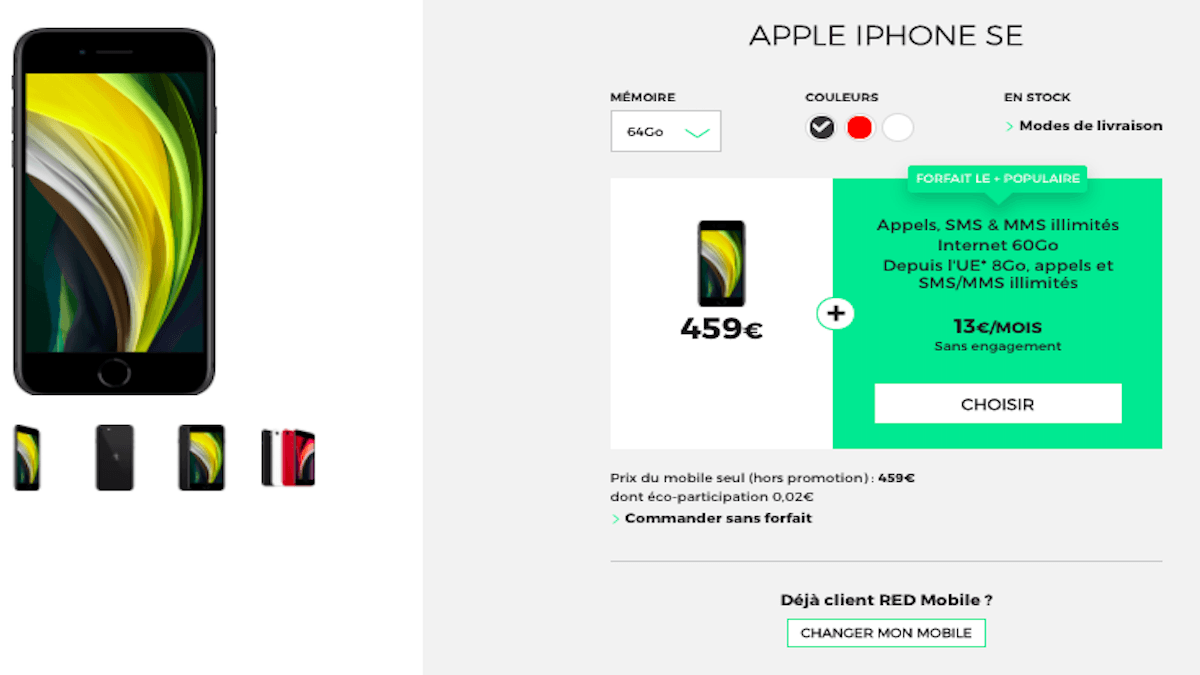 iPhone en promo chez RED by SFR