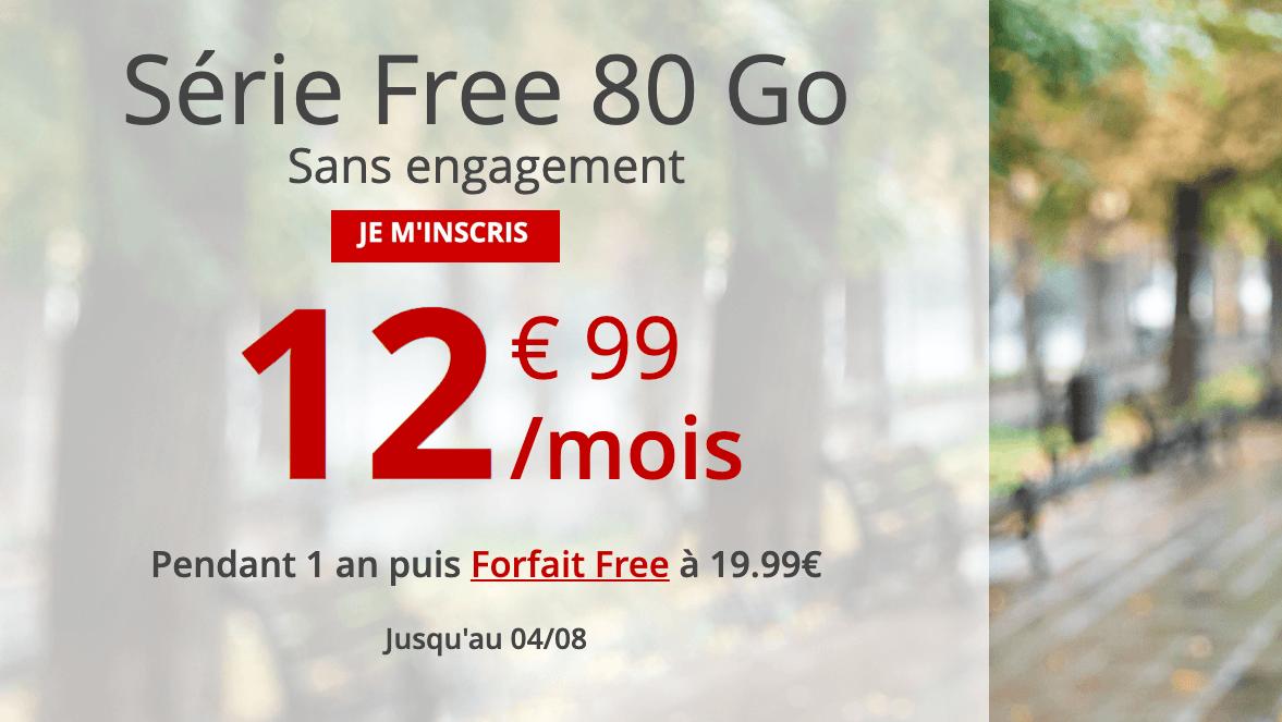 Le forfait 4G Free.