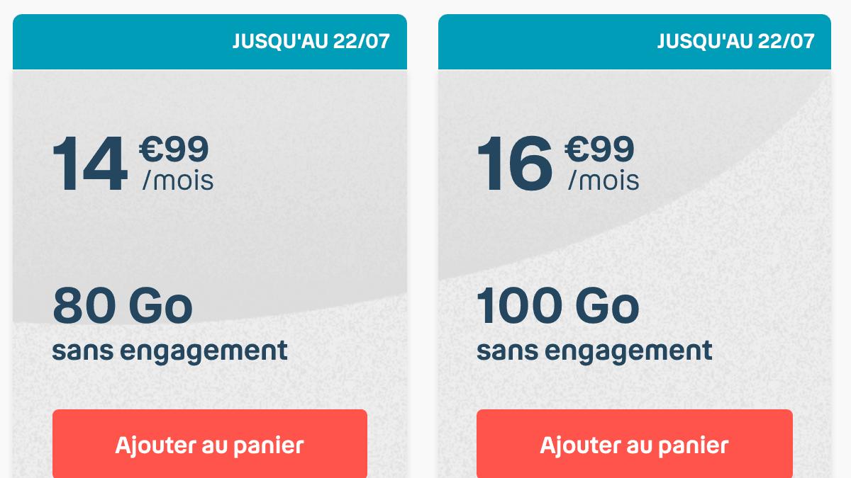Les forfaits mobiles B&You avec une grande enveloppe internet à partir de 14,99€ par mois.