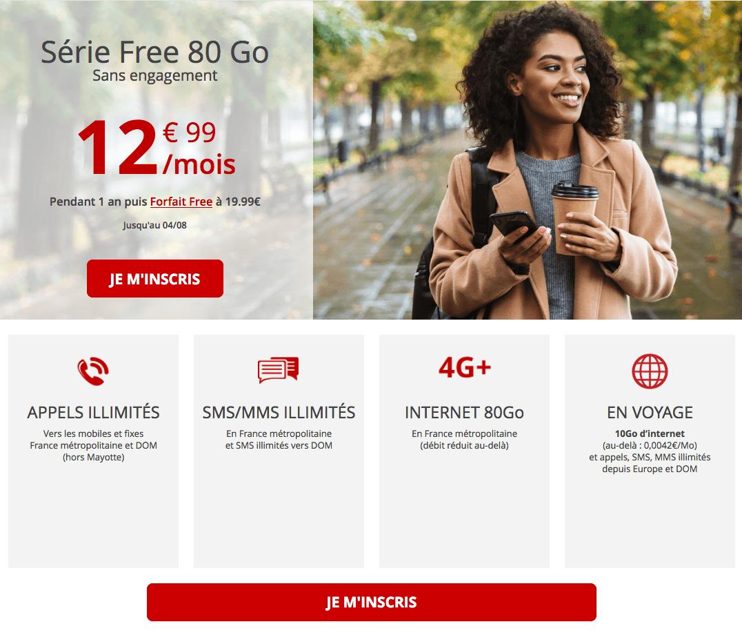 la promo de Free
