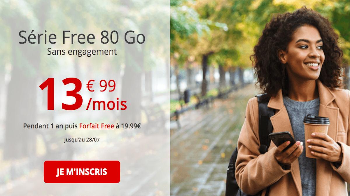 Série free mobile 80 Go dernier jour