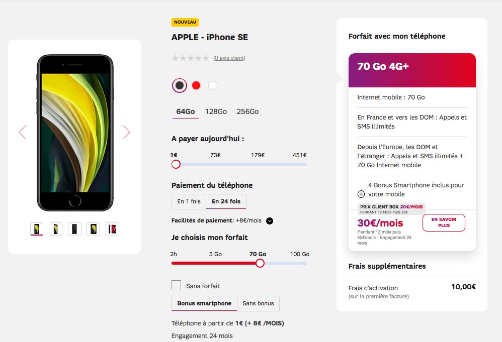 iPhoen SE à 1€ avec SFR