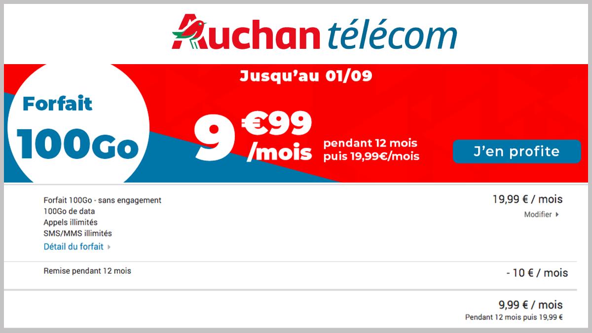 100 Go à prix bas avec Auchan Telecom