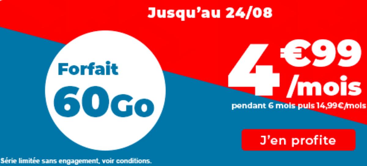 Auchan Telecom Forfait 60 Go