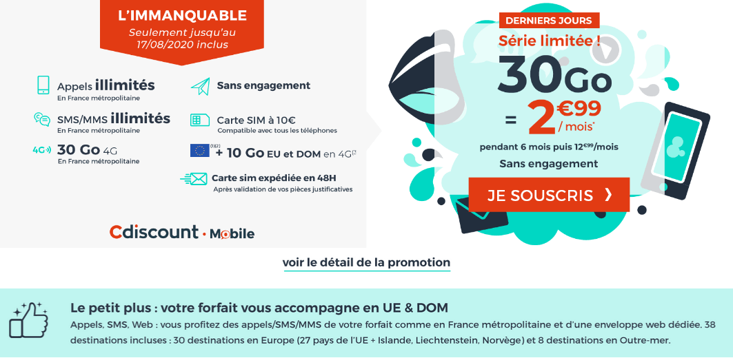 Le plan promotionnel de Cdicount Mobile