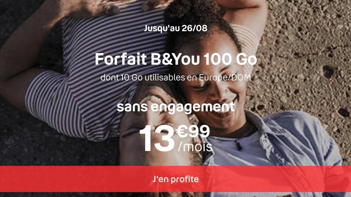 Forfait Internet 4G B&YOU