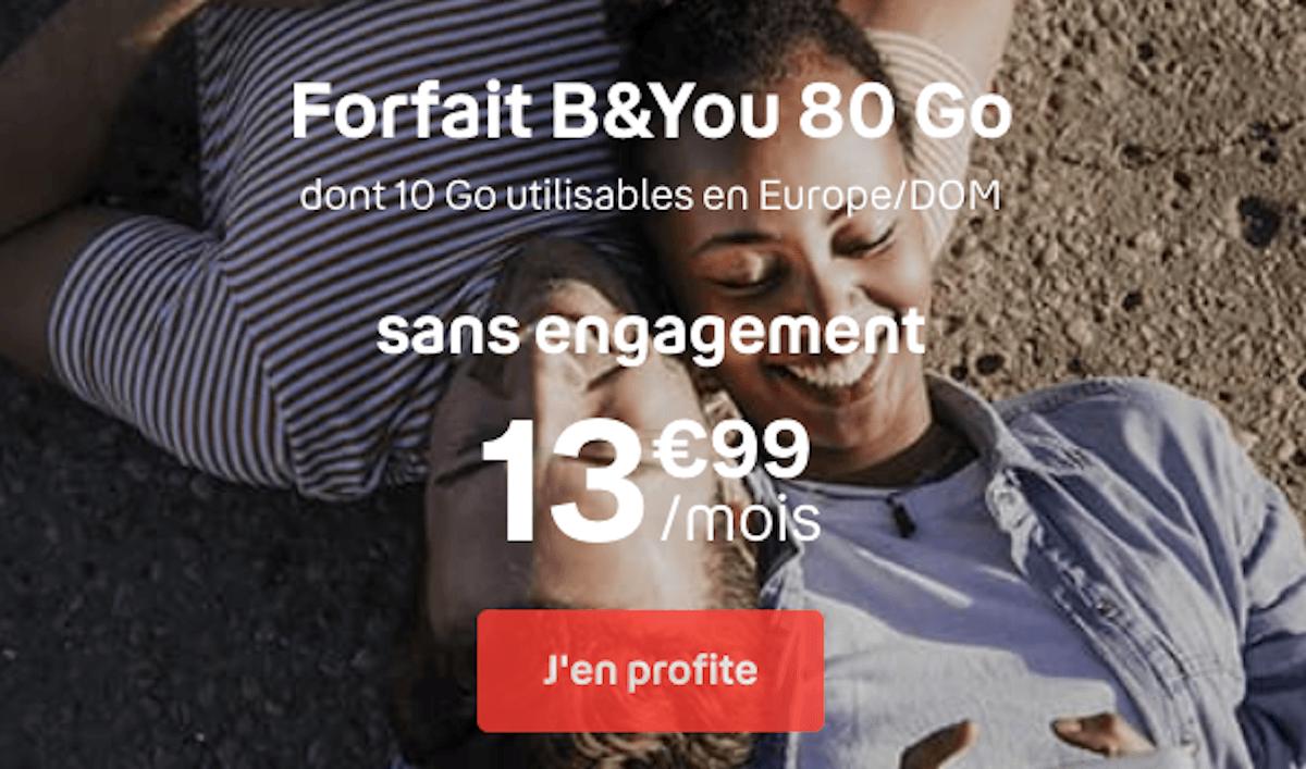 Forfait B&YOU 80 Go promo