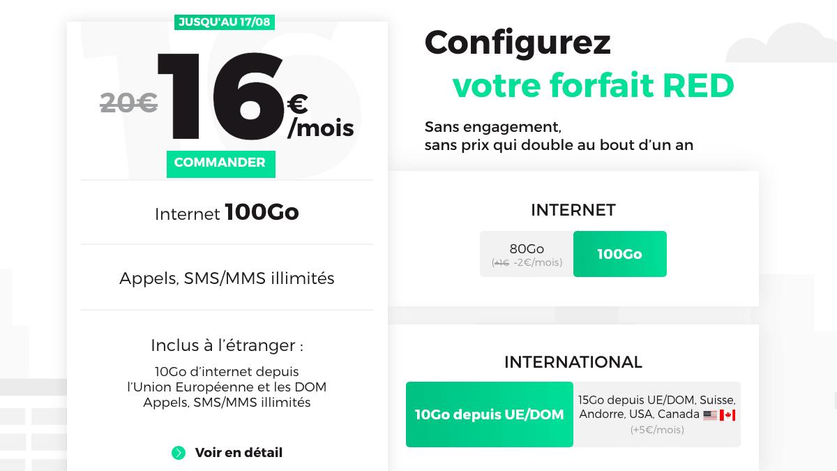 16€ par mois, l'offre 4G augmente de 20 Go l'enveloppe internet.