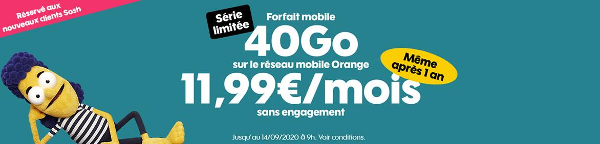 Offres rentrée mobile Sosh