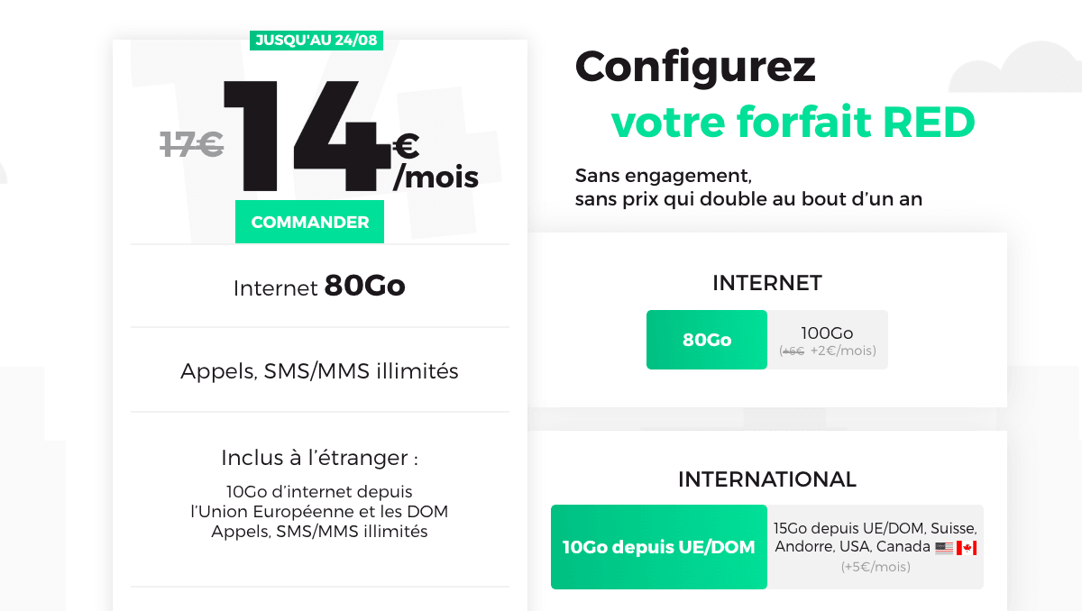 REd by SFR, le forfait 4G sans engagement jusqu'au 24 août.