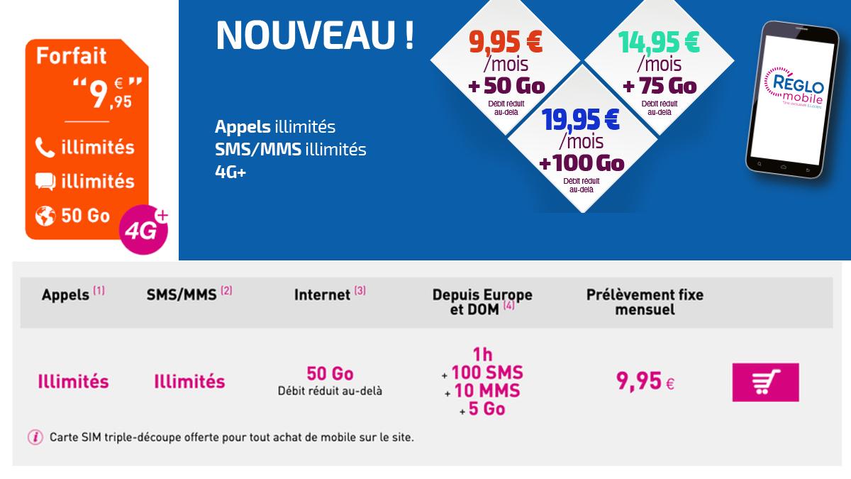 Réglo Mobile présente un forfait mobile très avantageux en France.