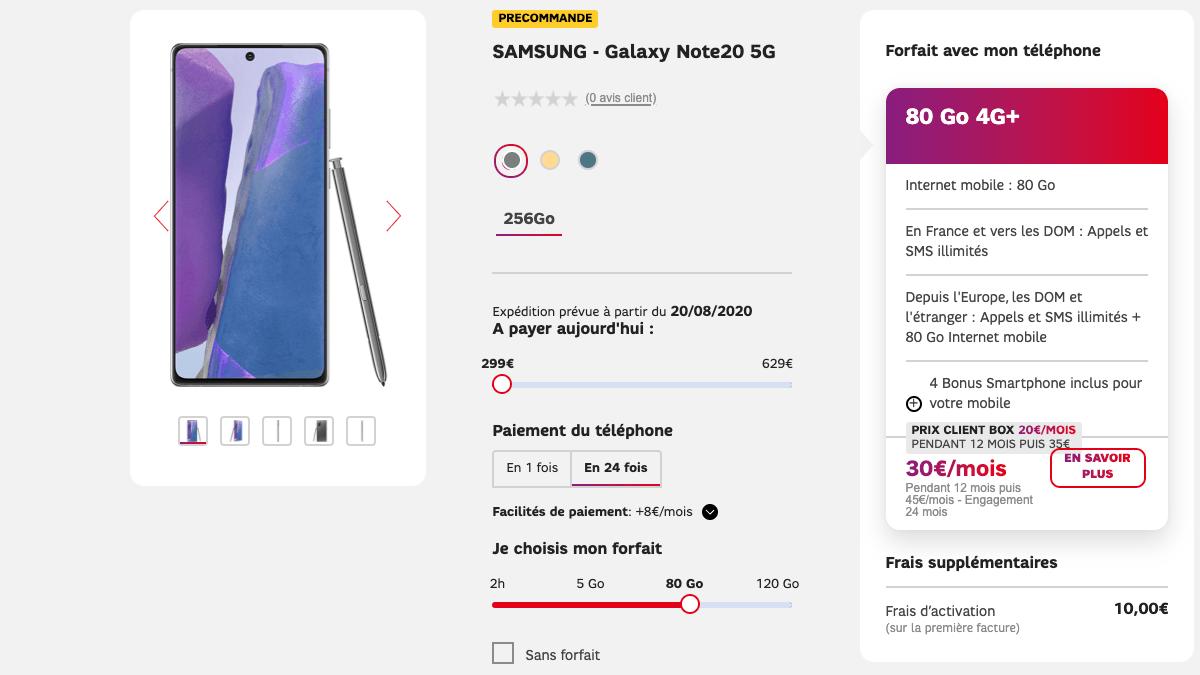 Le forfait 5G est en précommande.