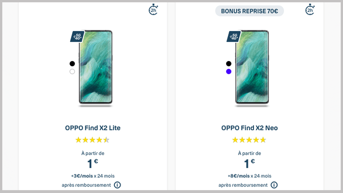 Smartphone Oppo en promo avec Bouygues Télécom
